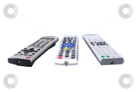 Remote Control stock photo, Some remotes pointing to you by Andre Janssen