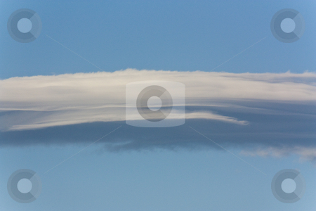 Cloud and Sky stock photo, A wispy cloud in a clear blue sky by Patrick Noonan