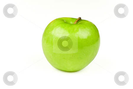 Green Apple stock photo, A green apple, isolated on a white background by Patrick Noonan