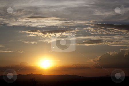 Desert Sunset stock photo, A desert sunset over the hills by Patrick Noonan