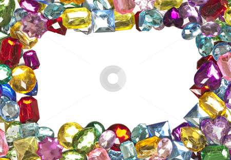 Jeweled Border stock photo, A jeweled border around a blank white center by Patrick Noonan