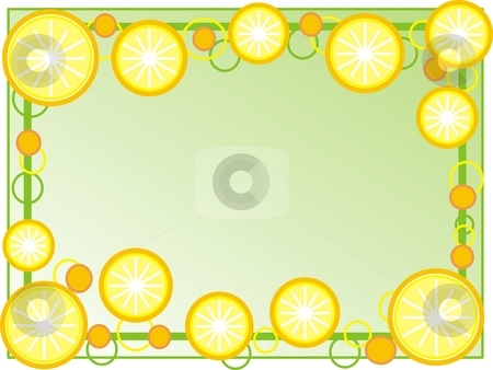 Oranges frame stock photo, Frame with oranges by Minka Ruskova-Stefanova