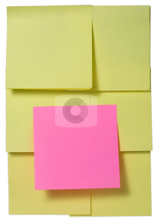 Sticky note stock photo, Sticky note with shadow close-up isolated on white background by Vladyslav Danilin