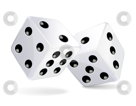 Dices stock vector clipart, Vector illustration of red dices by Laurent Renault