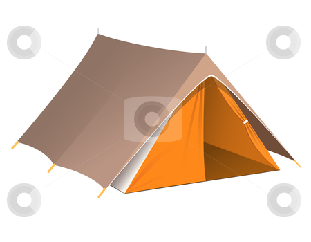 Tent stock vector clipart, Vector illustration of a tent by Laurent Renault