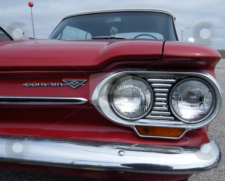 Front End of 1964 Chevrolet Corvair stock photo, Front End of 1964 Chevrolet Corvair Monza 900 Convertible. by Dazz Lee Photography
