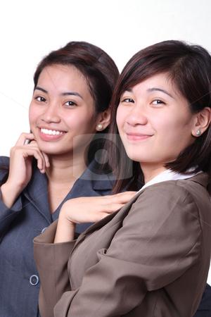 Young entrepreneurs stock photo, Portrait of young businesswomen by Claro Alindogan