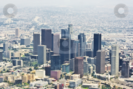 Downtown Los Angeles Aerials stock photo,  by Brite Blue Spot