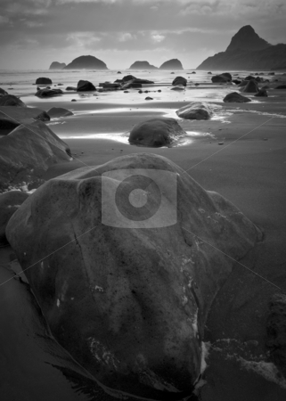 Flat Beach Rocks stock photo, So called