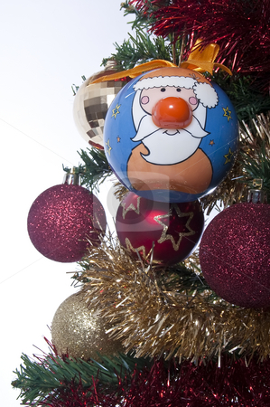 A novelty Santa Claus Christmas tree decoration stock photo, A fun Christmas tree decoration by Jeff Carson