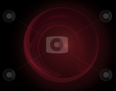 Abstract circle stock photo, Abstract red  swirl background on black - illustration by J?
