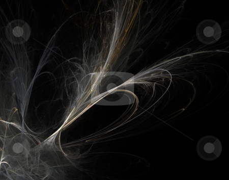 Disorder stock photo, Abstract line disorder on black background design - illustration by J?