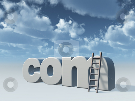 Com domain stock photo, Com domain and ladder by J?