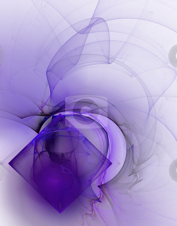 Waves and rectangle stock photo, Abstract background illustration - waves and rectangle by J?