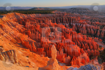 Bryce Canyon USA stock photo, Sunset in the beautyfully Canyon with intersting colurs via HDR by Martin Reisacher