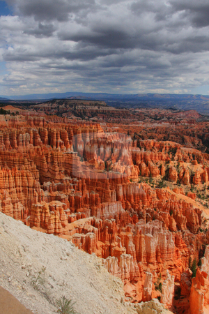Bryce Canyon,Utah, USA stock photo, Clouds over the Bryce Canyon with intersting colurs via HDR by Martin Reisacher
