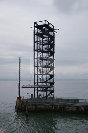 Lighthouse of Friedrichshafen on Lake Constance stock photo, Leuchtturm von Friedrichshafen am Bodensee / Lighthouse of Friedrichshafen on Lake Constance by Thomas K?