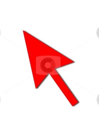 Cursor Arrow Mouse Red stock photo, Cursor Arrow for the use with mouse or other pointer. by Henrik Lehnerer