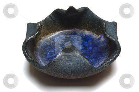 Ashtray, isolated stock photo, A hand-made ashtray. by Jeff Carson