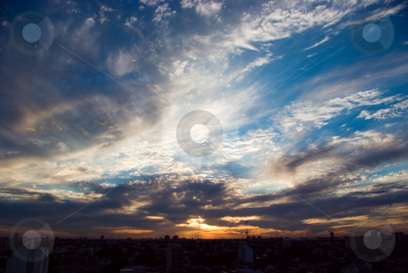 Cloudy sunset 2713 stock photo, Cloudy sunset, in Buenos Aires, Argentina by Germán Ariel Berra