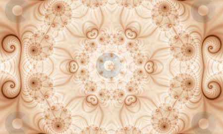 Fractal49f stock photo, Abstract brown and white background, generated from a fractal pattern. by Germán Ariel Berra