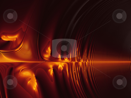 Burning Sound Waves (fractal35a) stock photo, Burning Fractal Sound Waves. Abstract computer generated fractal background by Germán Ariel Berra