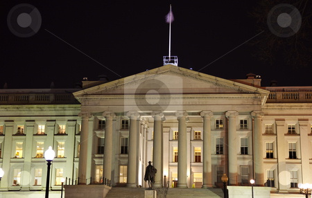 US Treasury Department Alexander Hamilton Statue Washington DC stock photo, US Treasury Department Alexander Hamilton Statue Washington DC by William Perry