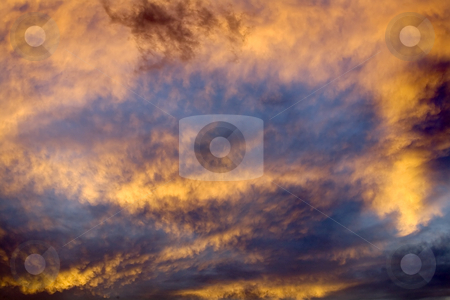 Sky Abstract at Sunset Missoula Montana stock photo, Montana Sky Abstract at Sunset Missoula.  Montana is known as