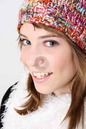 Winter Teen stock photo, Beautiful young teenager wearing warm winter clothing by Vanessa Van Rensburg