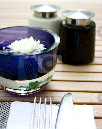 Alfresco dining stock photo, A bright alfresco dining scene. High key shot with shallow depth of field by Martin Darley