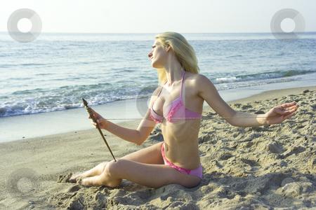 Destiny thread stock photo, The young goddess spins destiny of mankind by Aleksandr GAvrilov