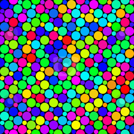 Festive dots pattern stock photo, Seamless texture of very colorful and bright rounds by Wino Evertz