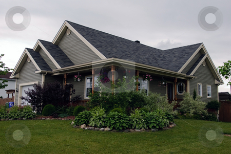 Country style house stock photo, Picture of a typical North American Country Style house by Alain Turgeon