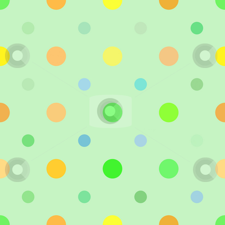 Dots Background stock photo, Multi colored dots pattern that tiles seamlessly in any direction. by Todd Arena