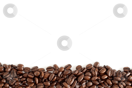 Frame of coffee beans stock photo, A frame of isolated coffee beans with white background by Alexander Zschach