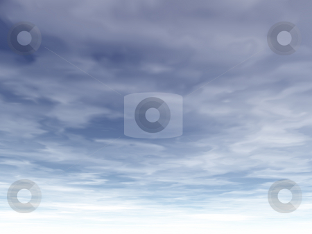 Sky painting stock photo, Background illustration - painting blue cloudy sky by J?