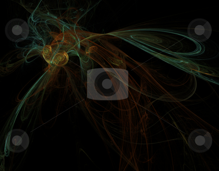 Abstract insect figure stock photo, Abstract illustration - lines on black forms a insect figure by J?