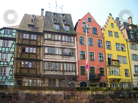 Strasbourg buildings stock photo, Colorful buildings in Strasbourg by Jaime Pharr