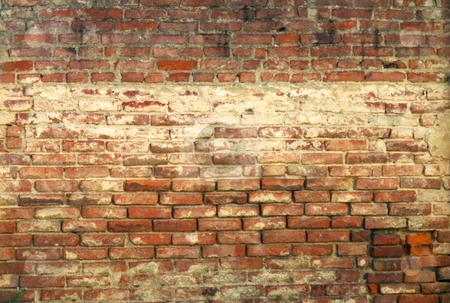 Old wall stock photo, Red old wall of bricks by Fabio Alcini