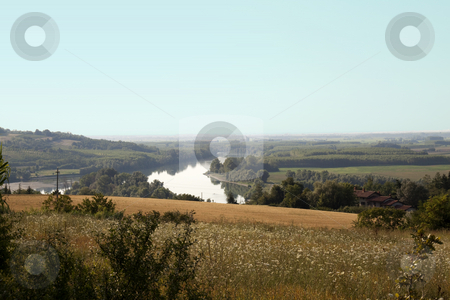 River stock photo, Landscape of the river and country by Fabio Alcini