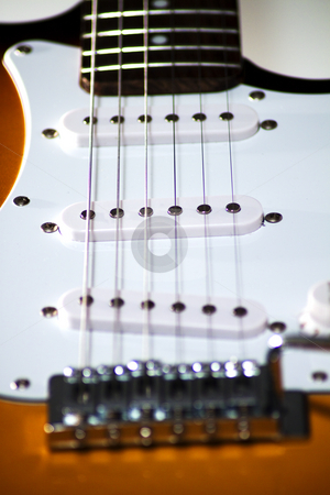 Guitar stock photo, Close up of an electric guitar by Fabio Alcini