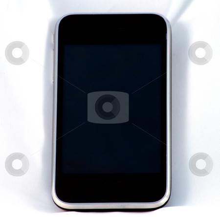 Phone stock photo, Last generation telephone isolated on a white background by Fabio Alcini