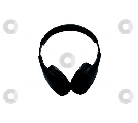 Headphones stock photo, Black wireless headphones on a white background by Fabio Alcini