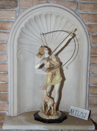 Arthemis stock photo, Altar with the greek god Arthemis by Chris Willemsen