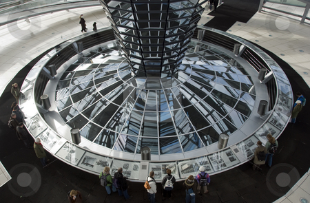 Berlin stock photo, Glass and metal roof Reichstag Germany the government building by Chris Willemsen