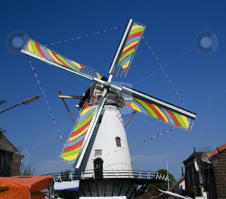 Windmill stock photo, Dutch windmill by Chris Willemsen