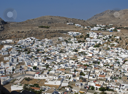 Lindos stock photo, Lindos, a small village on the greece island Rhodos by Chris Willemsen