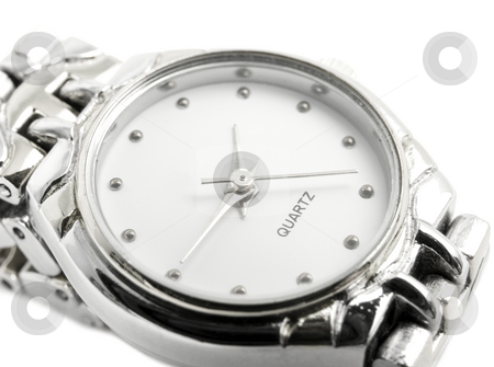 Close up of watch stock photo, Close up of a watch on a white background by John Teeter
