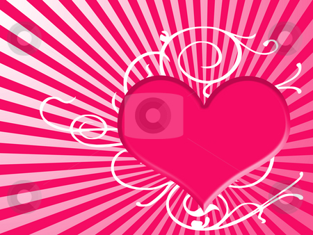 Heart background stock photo, Background with heart by Minka Ruskova-Stefanova