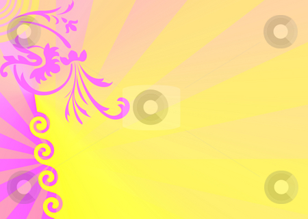 Floral ornament stock photo, Floral ornament on yellow background by Minka Ruskova-Stefanova